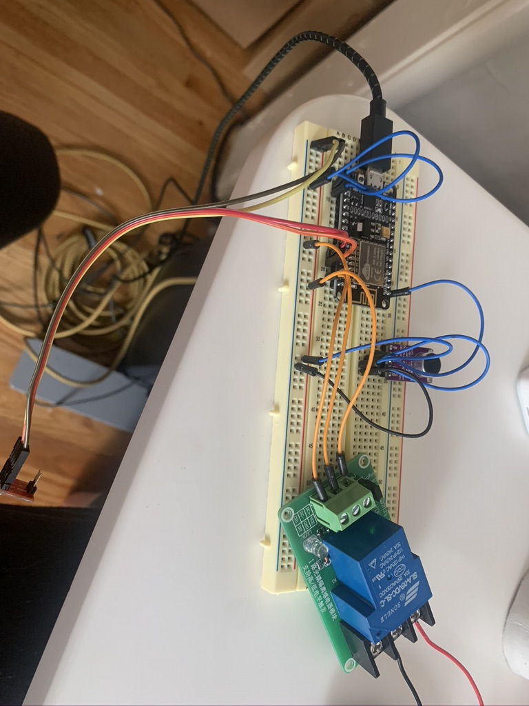 Fully wired breadboard