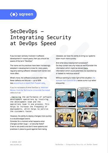 SecDevOps - Integrating Security at DevOps Speed