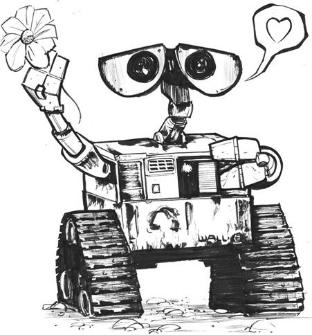 Wall-e Love Sketch
