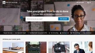 linkedin profinder homepage