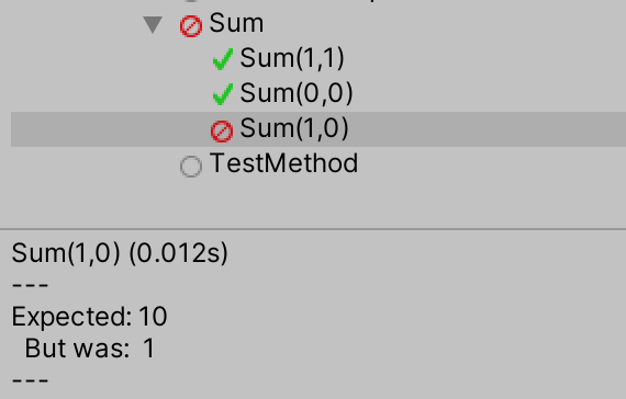 Unity TestCase Example
