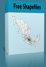 Mexico Shapefiles - Manzanas, AGEB, Estados, Municipios