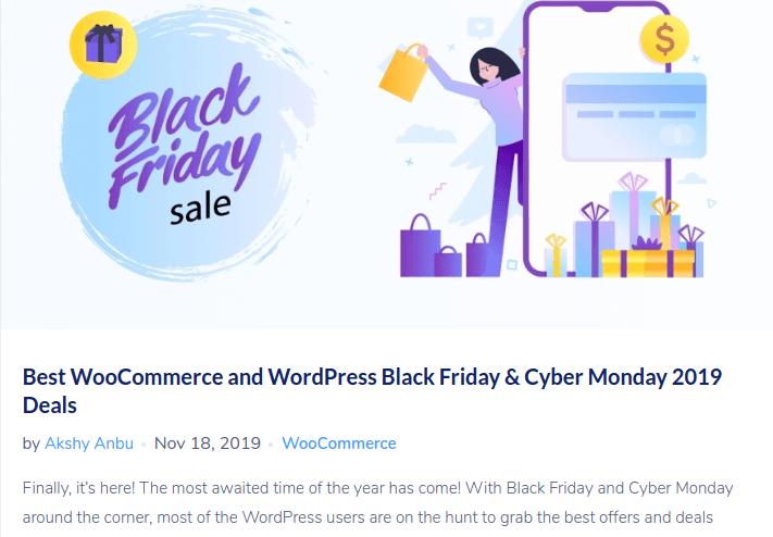 Black Friday blog ideas