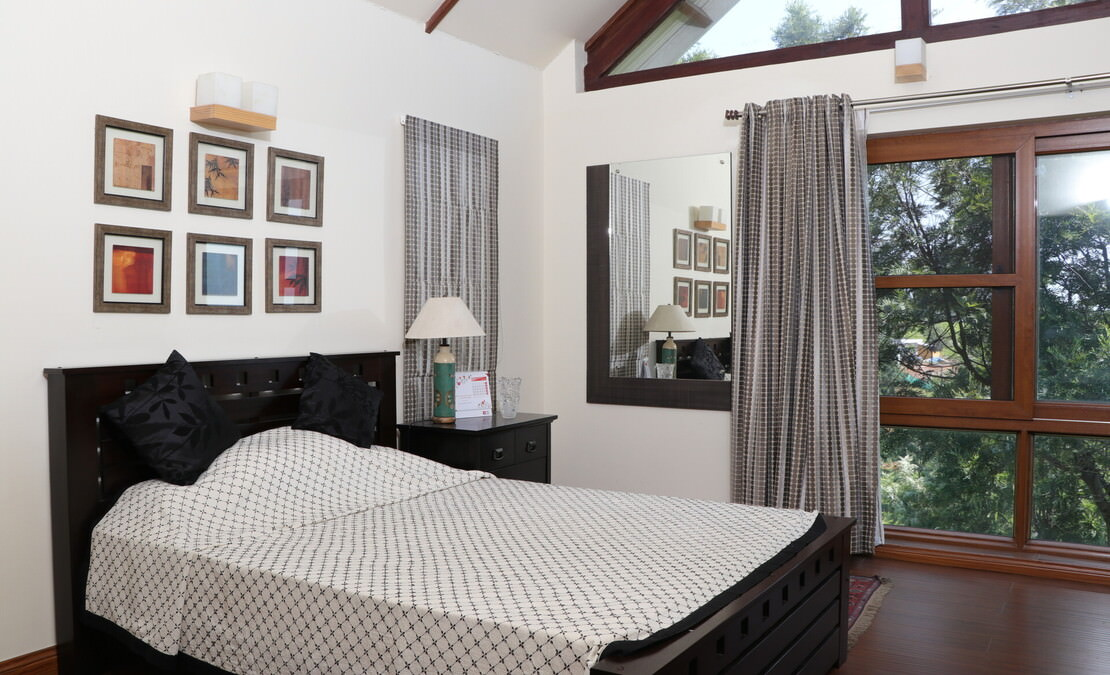 Spacious master bedroom of the house