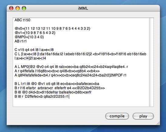 MML code sample