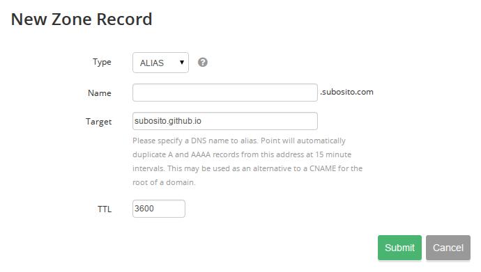 DNS ALIAS record