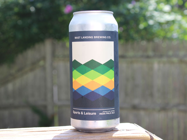 Sports & Leisure, a NEIPA brewed by Mast Landing Brewing Company