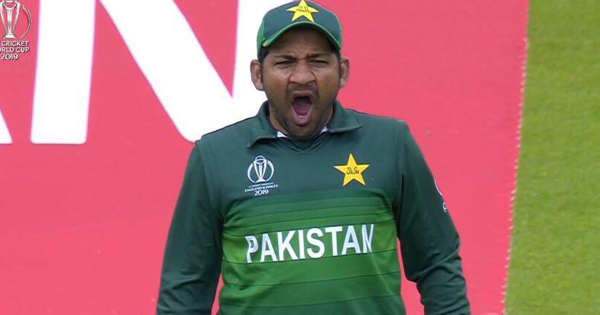 Sarfaraz Ahmed yawning