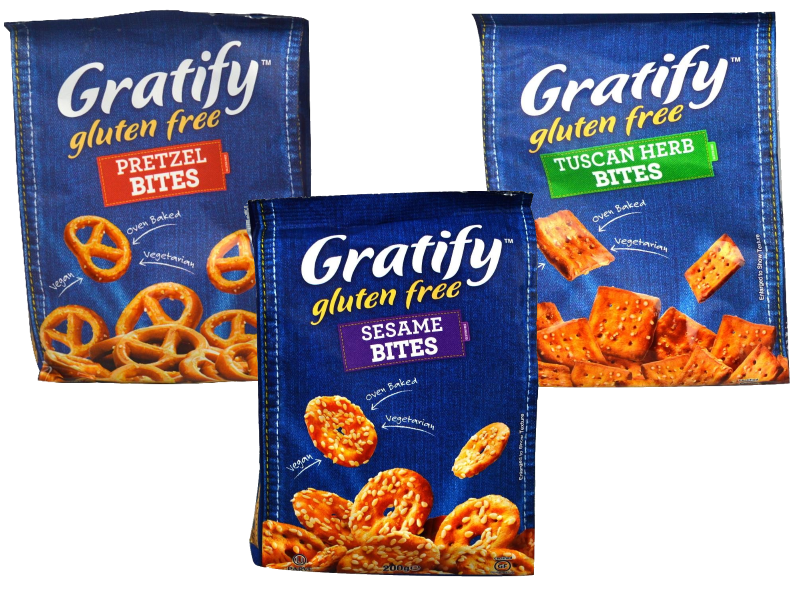 Gratify Pretzel/Sesame/Tuscan Bites (200g)