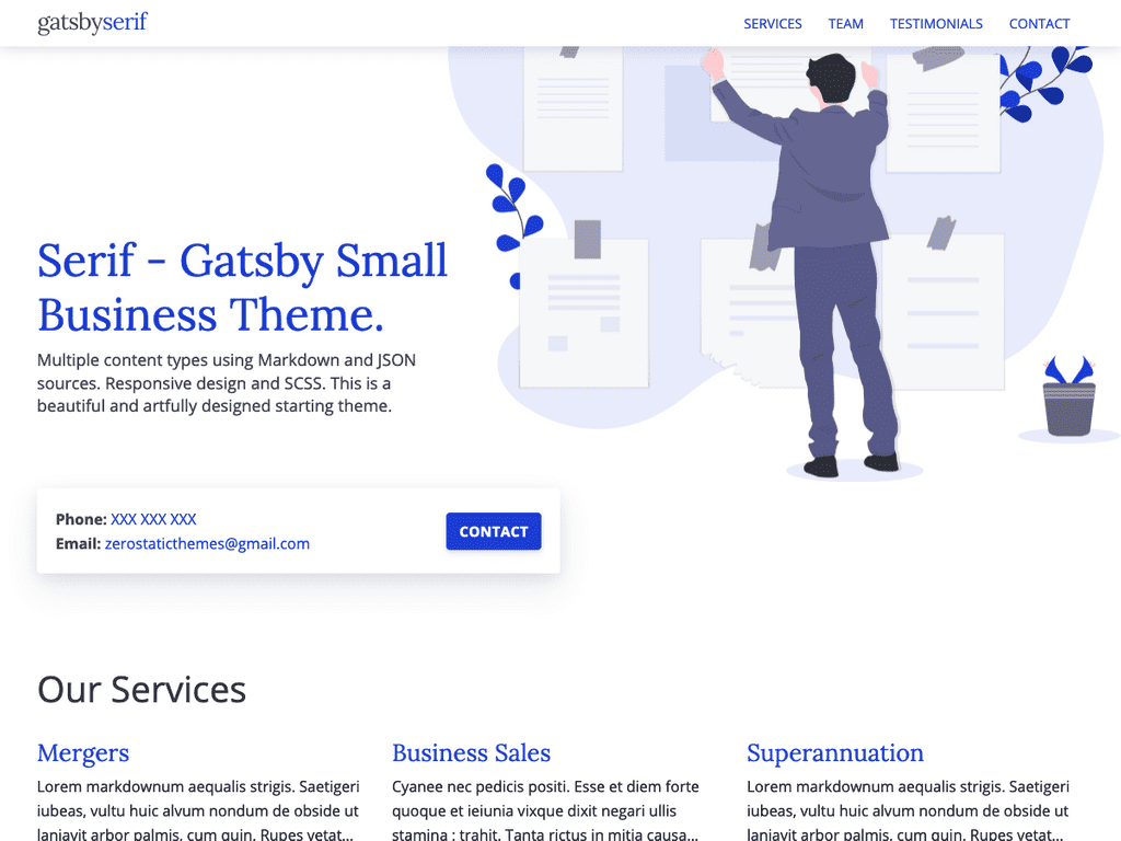 Gatsby Serif Theme - Stackrole