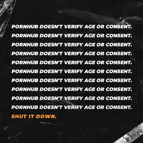 Pornhub doesn't verify age or consent