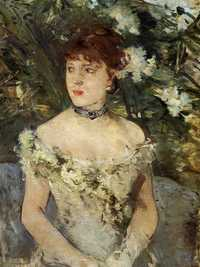 Young girl in a ball gown by Berthe Morisot in 1879