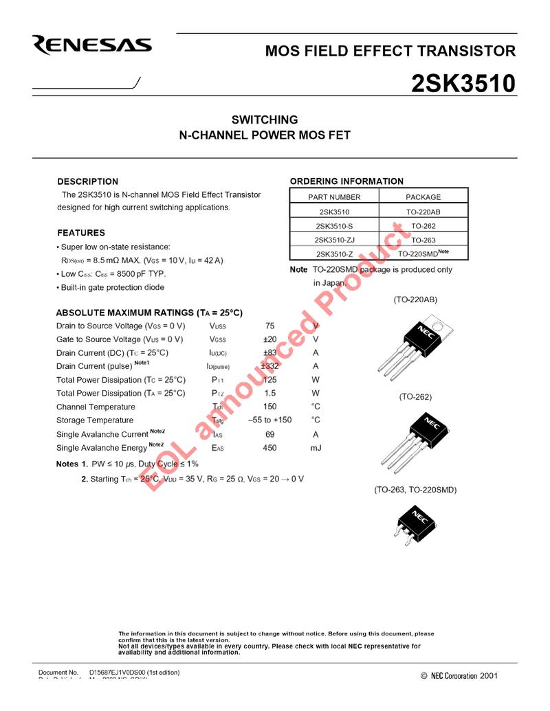 2SK3510-datasheets