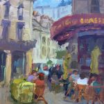 Cafe in Chinon 12x9