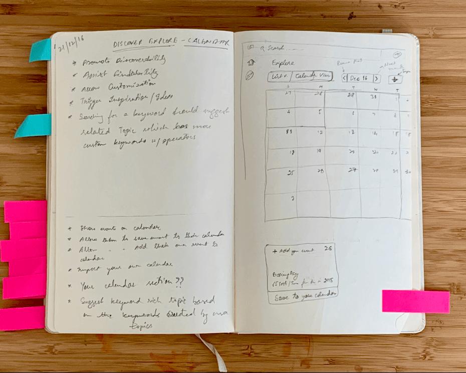 Calendar view for Topics