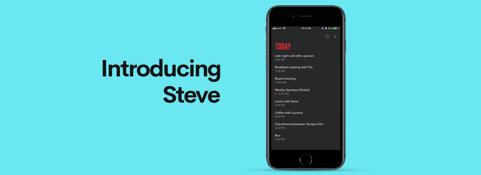 Steve - The simplest calendar app money can buy for iOS