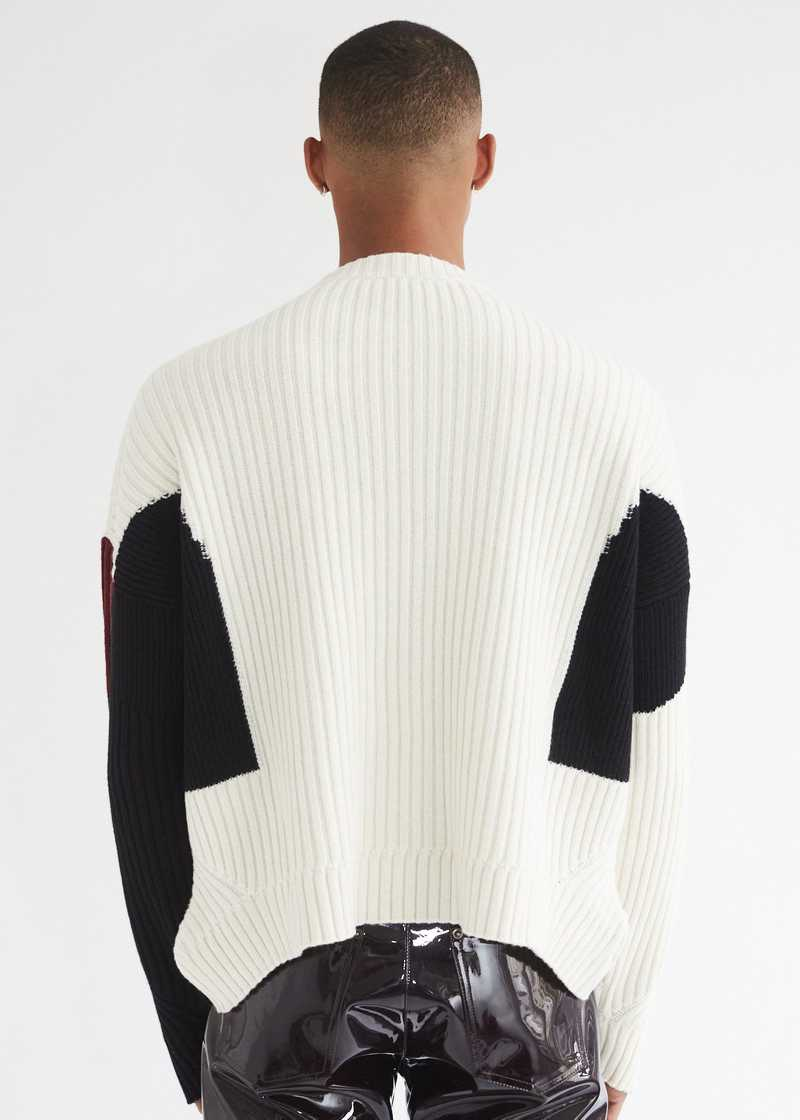 Mies Jumper Off-white back