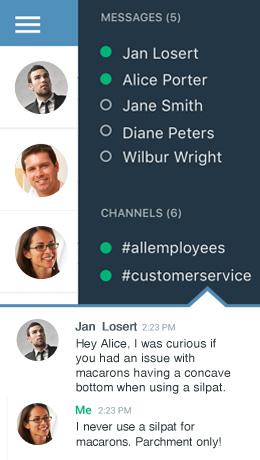 Mobile ximbleChat messaging tool