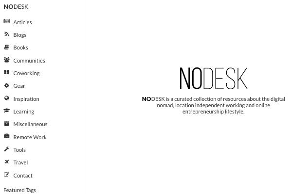 NoDesk   All Things Digital Nomad
