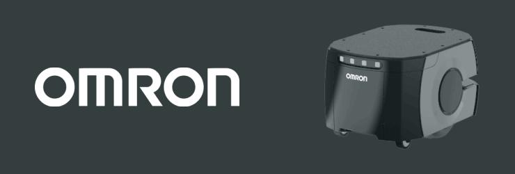 Image du robot mobile de Omron avec son logo.