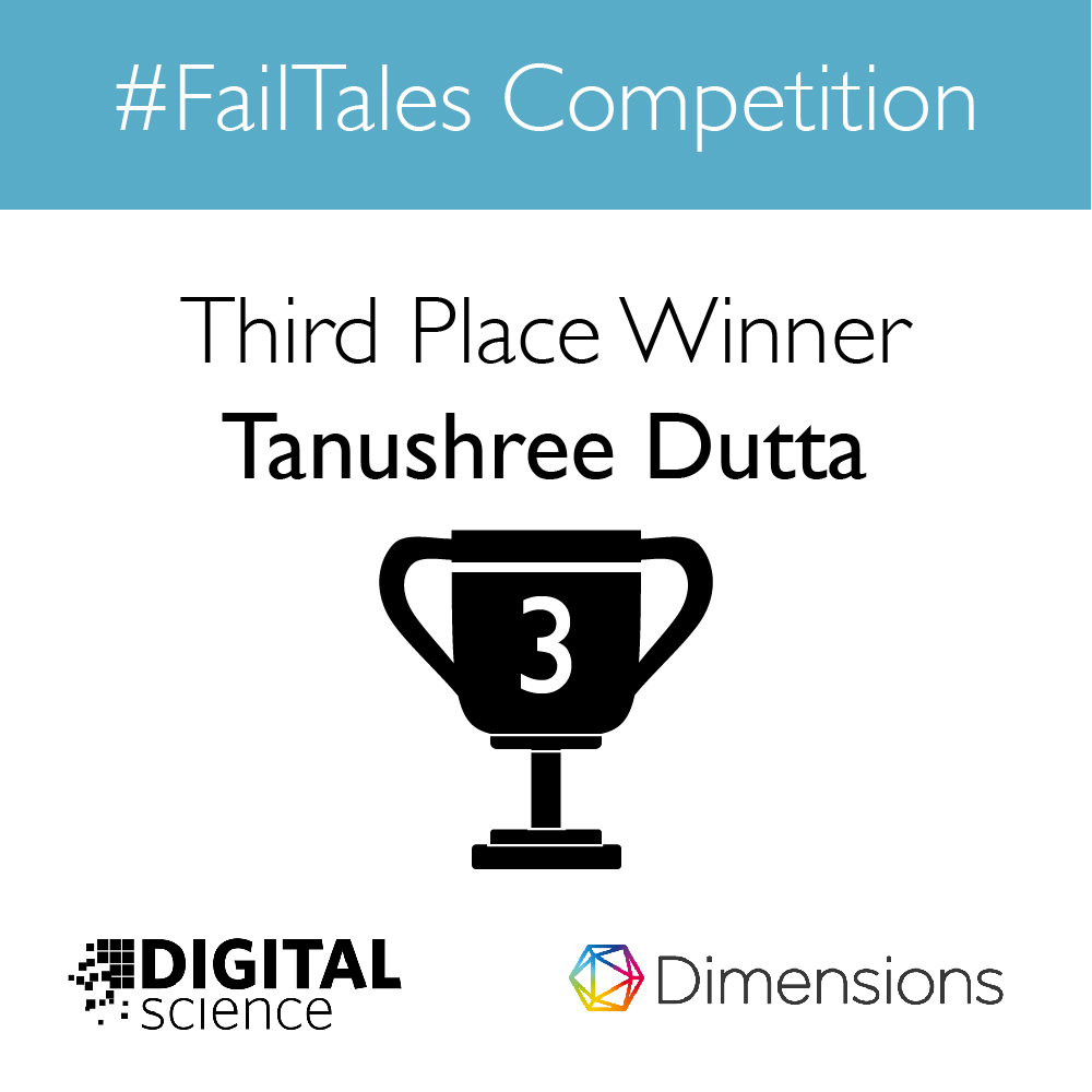 #failtales contest second prize winner anouncement graphic