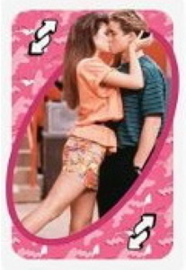 Saved by the Bell Pink Uno Reverse Card