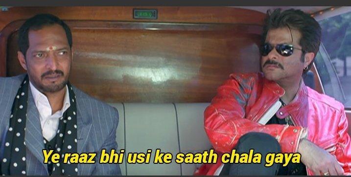 Uday Shetty (Nana Patekar) in Welcome: Ye Raaz Bhi Usi Ke Saath Chala Gaya