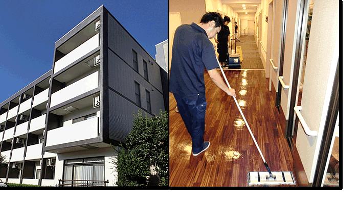 新東京ビルサービス|医療・介護施設の清掃例