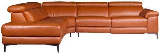 Hoekbank Lupine Chaise Longue Links Leer Oranje M5659 2 25 X 2 90 Mtr Breed 9200000083646643_3 60 cm