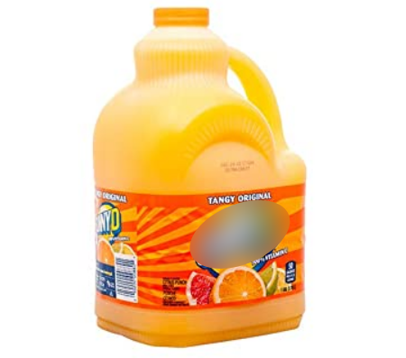 A not-so-healthy orange flavoured drink