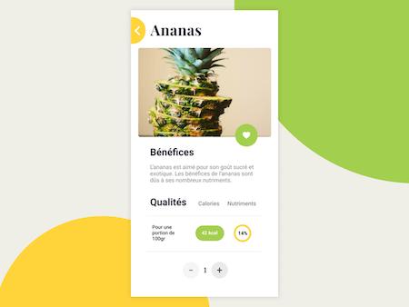 Ananas app screenshot from Dribbble