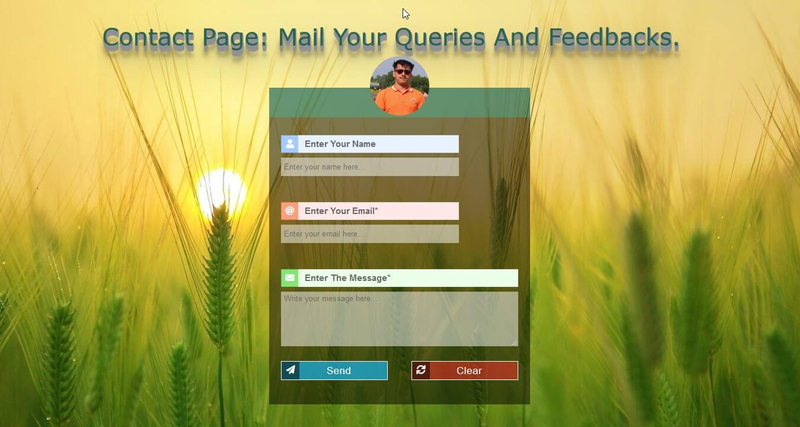 contact page for blogger