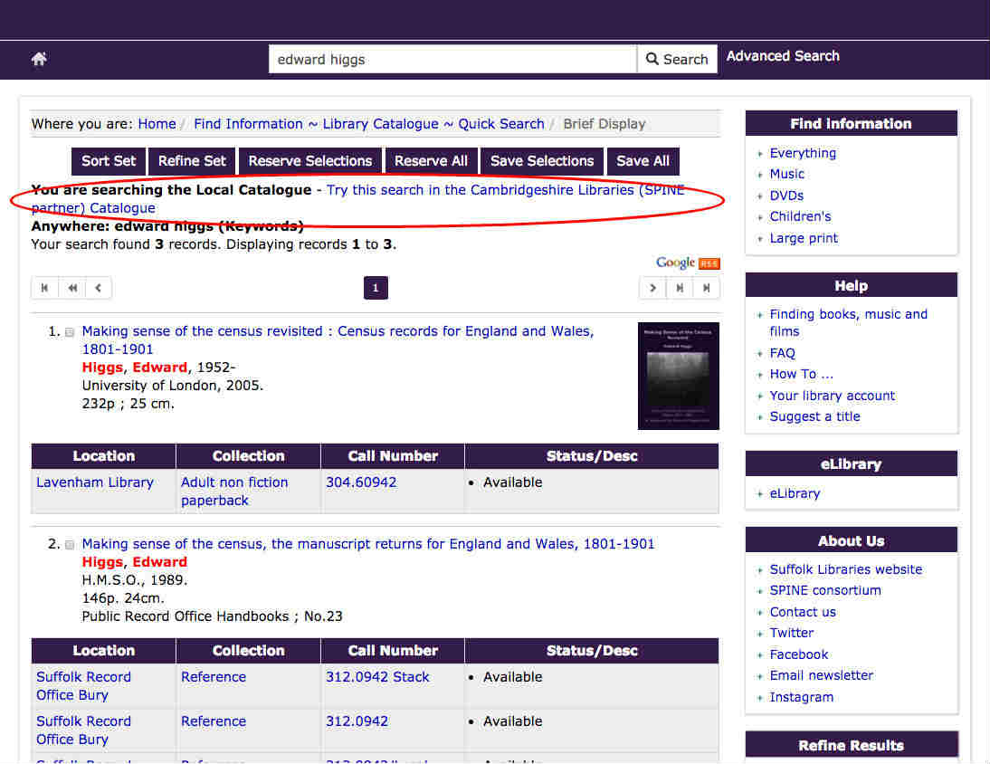 Expand this search to include Cambridgeshire Libraries (SPINE partner)