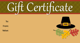 Gift Certificate Template Thanksgiving 02