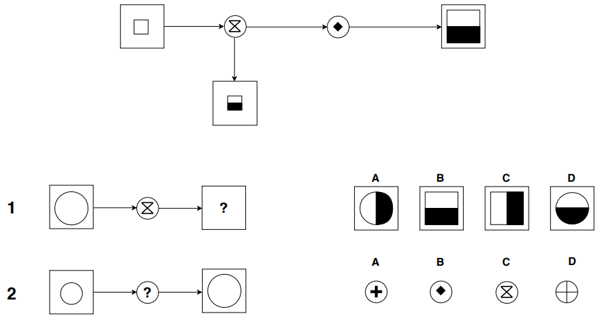 Example of diagrammatic test ieGAT