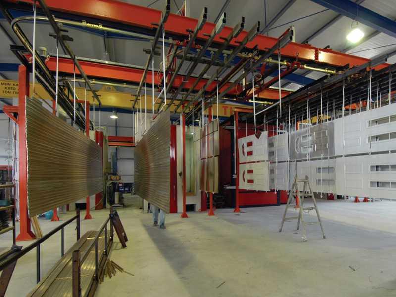 paint finishing line overhead conveyor