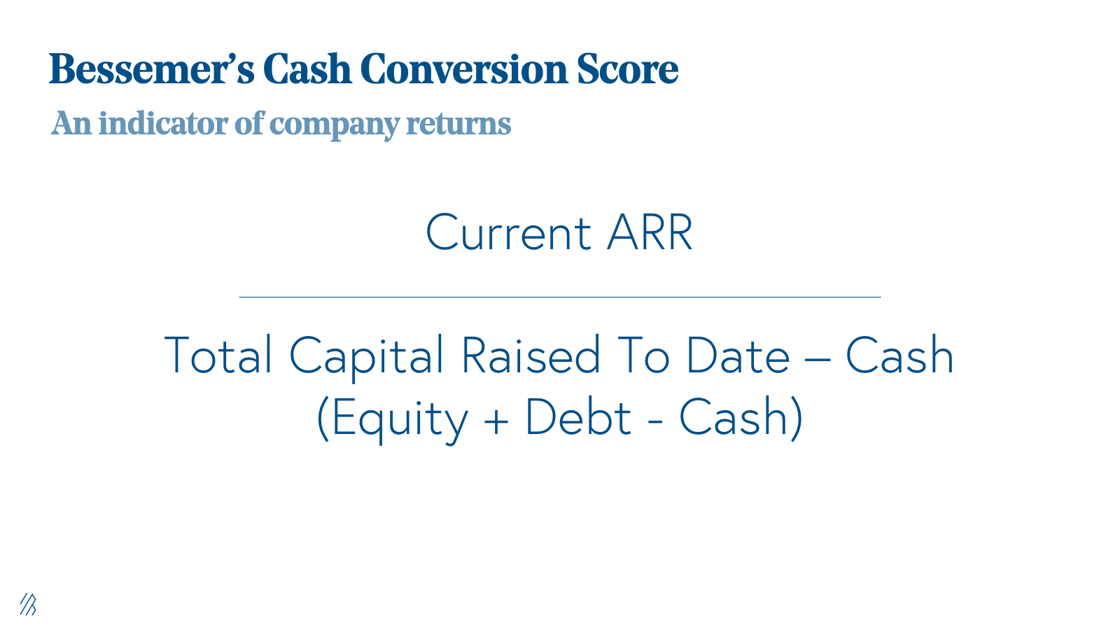 Cash Conversion Score Equation