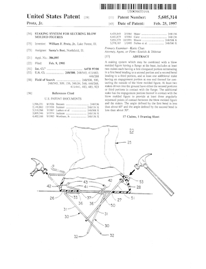 Santa's Best Staking System for Securing Blow Molded Figures Patent #5605314.pdf preview
