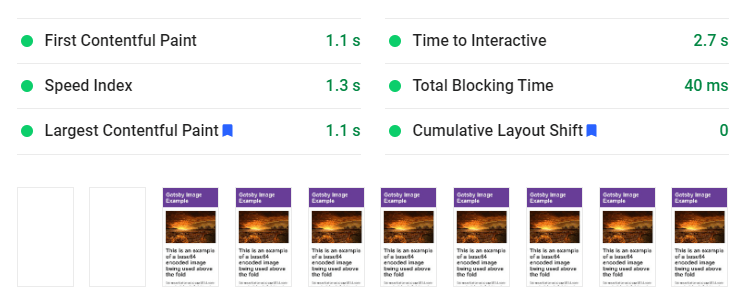 Google Insights screenshot showing LCP taking 2.6 seconds