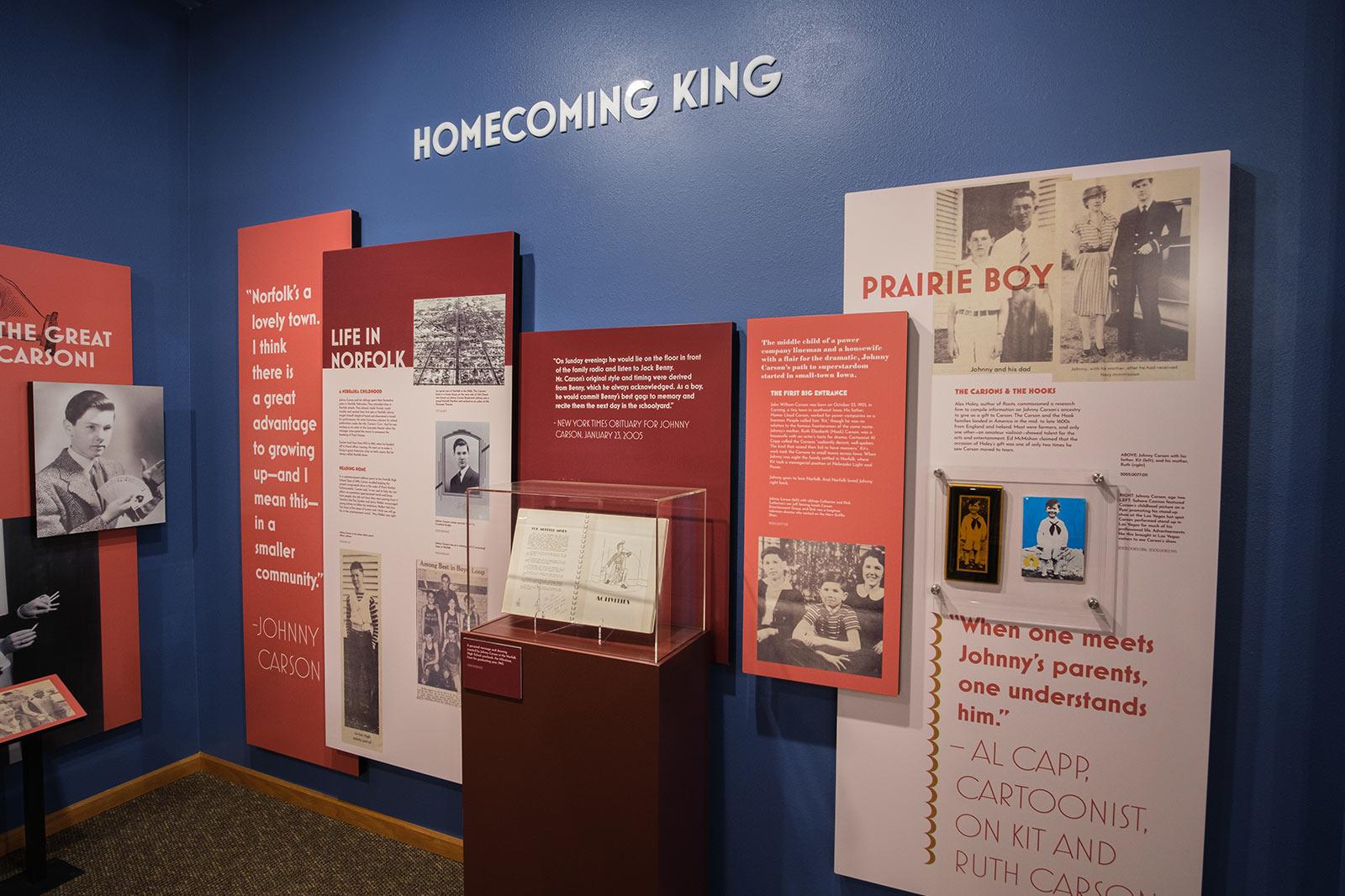 Johnny Carson Museum Exhibit Showcase