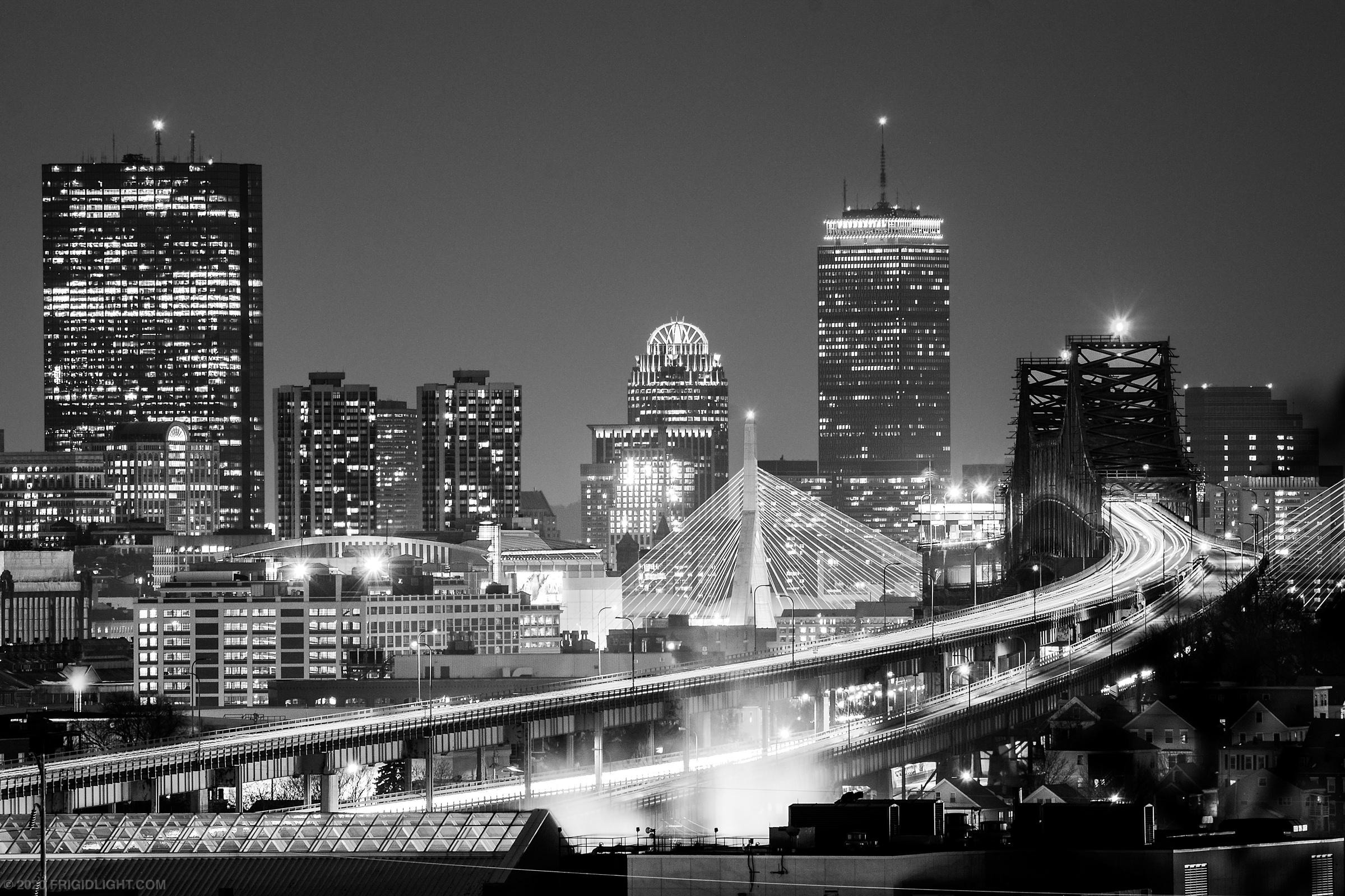 Boston Skyline and Bridges