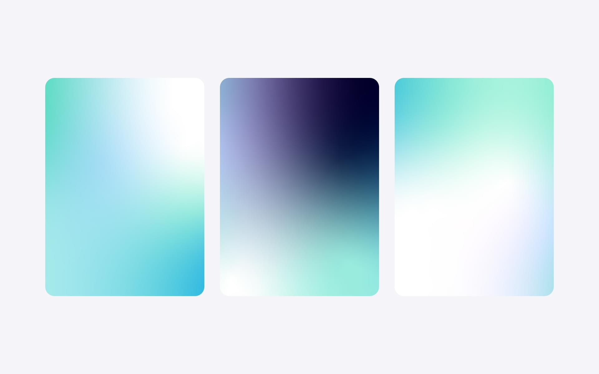 Gradient options for brand identity style guide