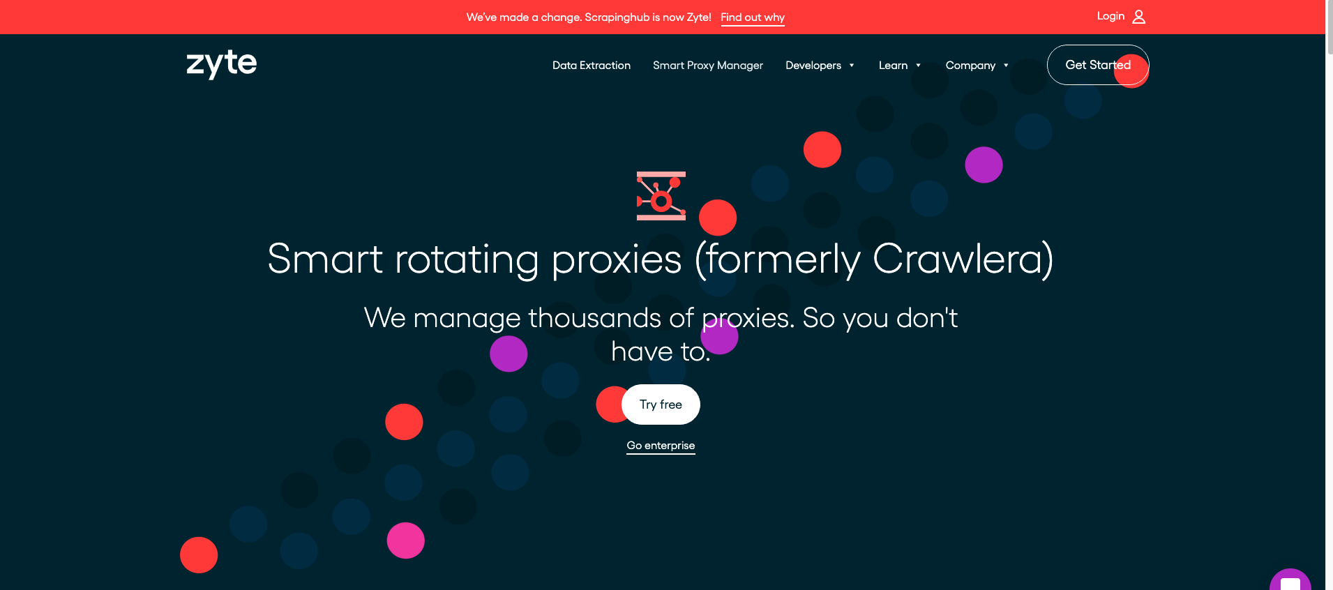 Crawlera homepage
