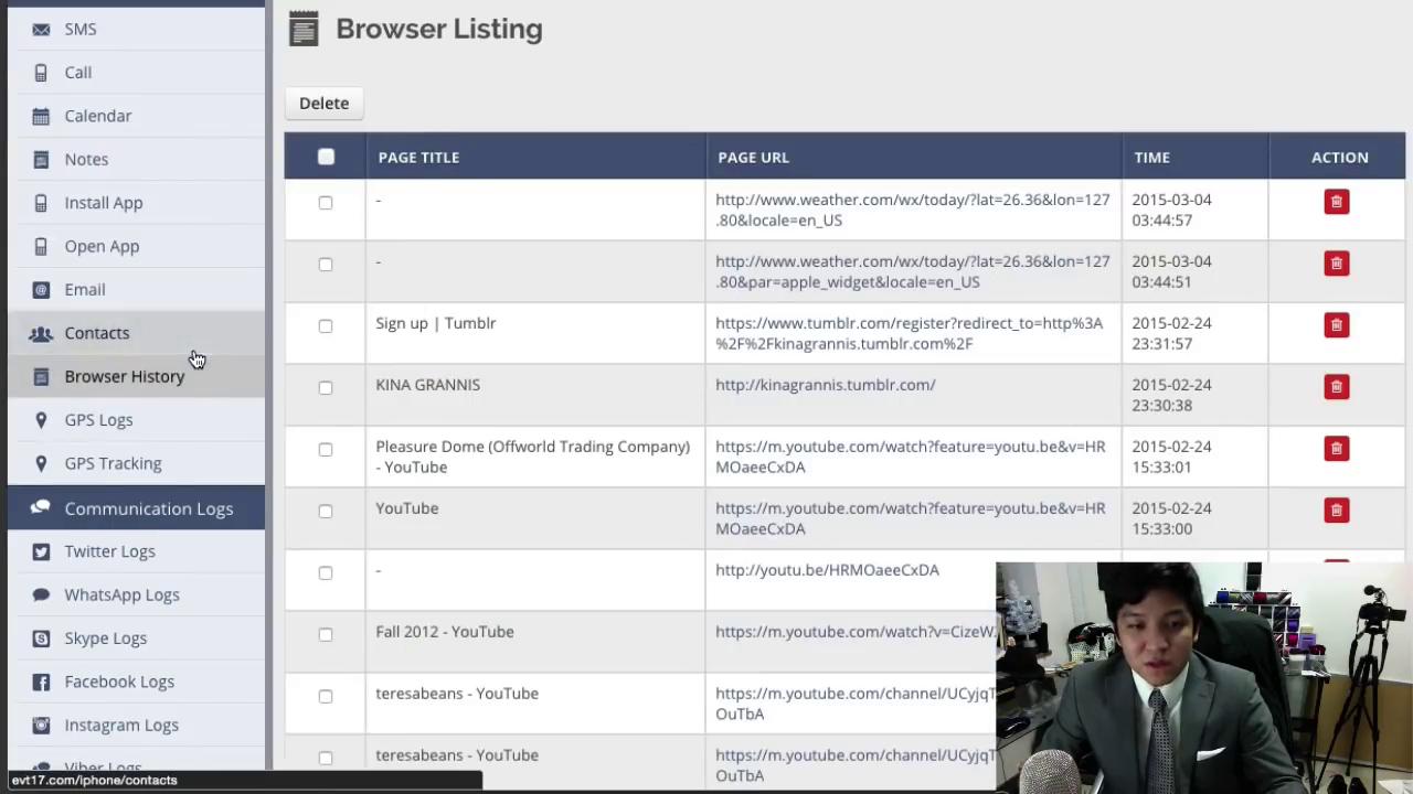 Sadap Browser - Aplikasi Highster-Mobile