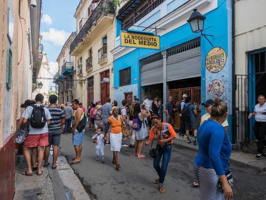 Busiest bar in Havana