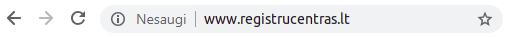 Naršyklė be SSL sertifikato