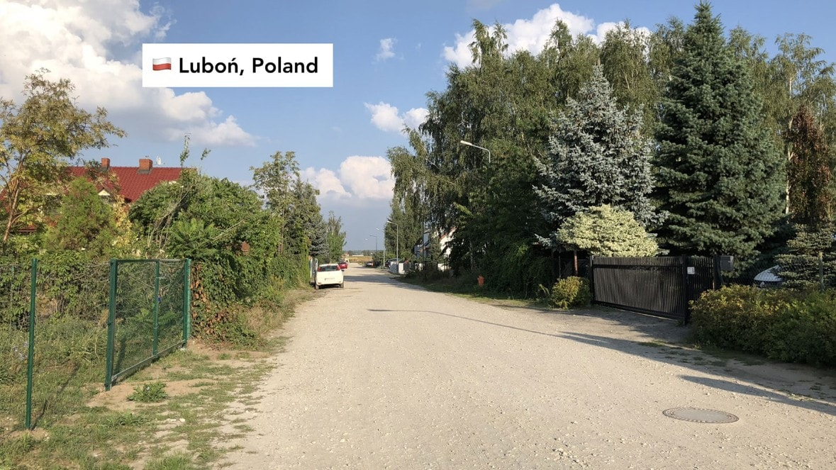Photo of Pawel's dirt road in Luboń Poland