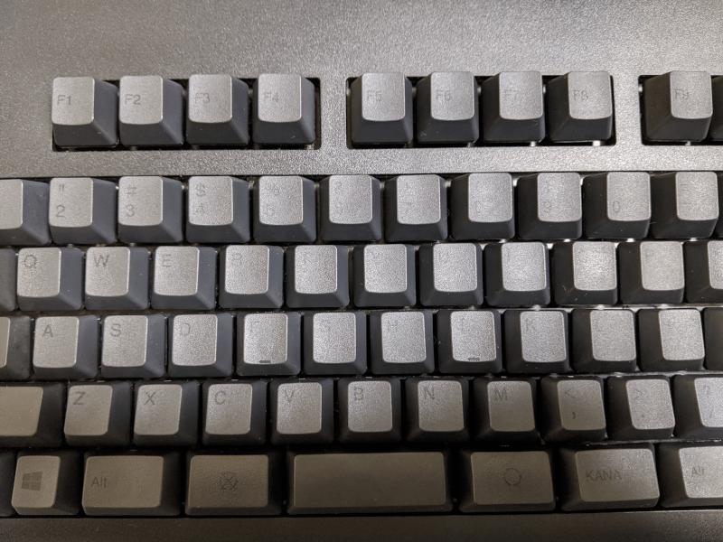 キーボード掃除完了