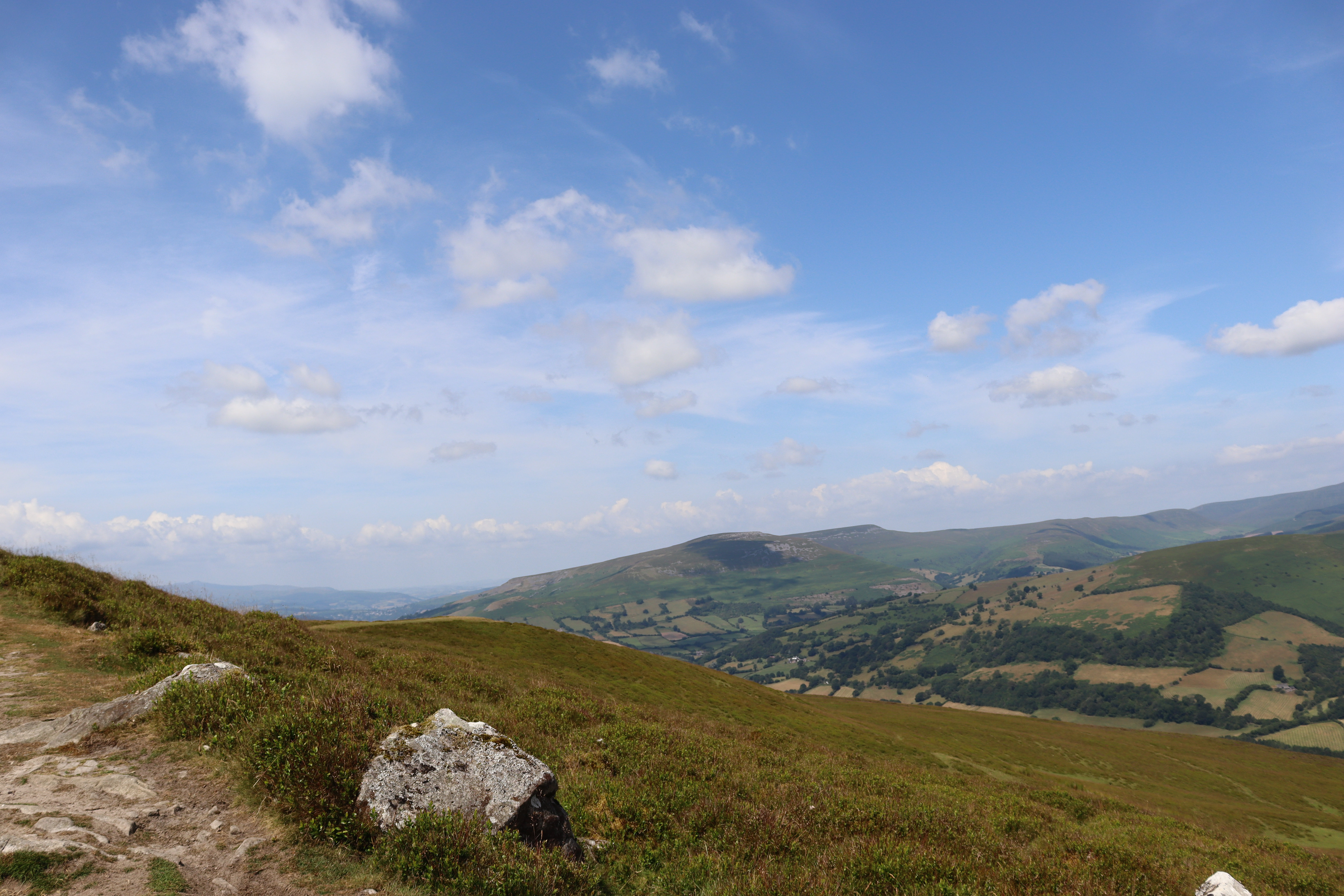 View from the path at the top of sugar loaf mountain.