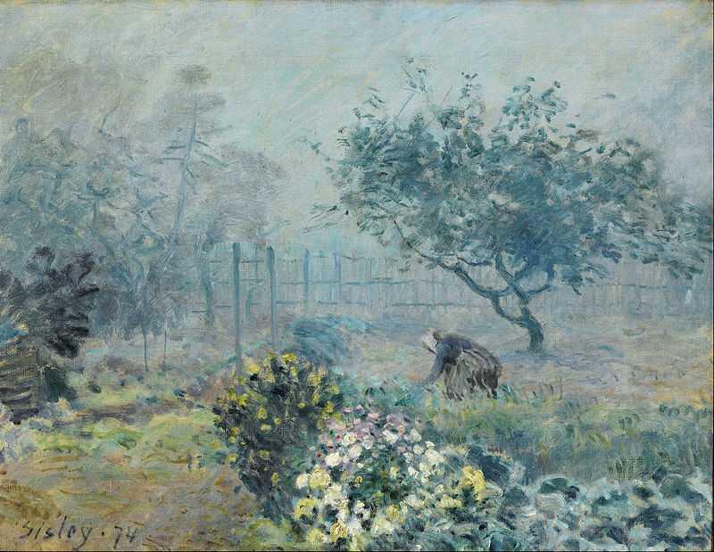 'Fog, Voisins', painted by Alfred Sisley in 1874